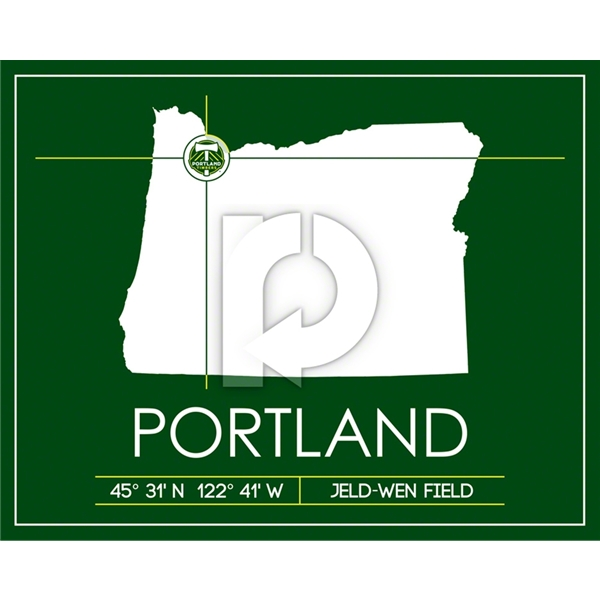 Portland Timbers Map Wall Art