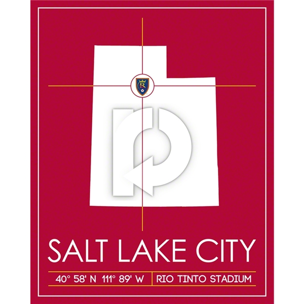 Real Salt Lake Map Wall Art