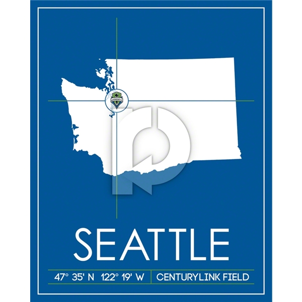 Seattle Sounders Map Wall Art
