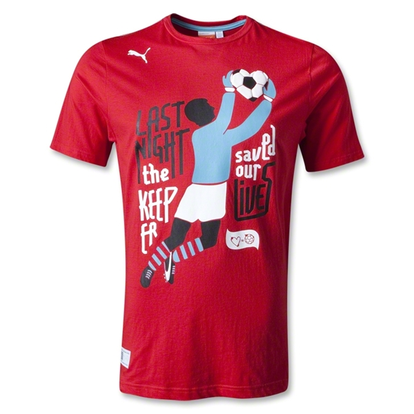 PUMA Love=Football T-Shirt (Red)