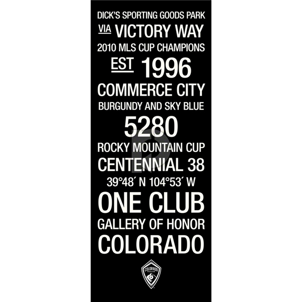 Colorado Rapids Subway Art with Logo