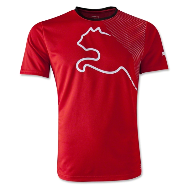 PUMA King Graphic T-Shirt (Red/Blk)