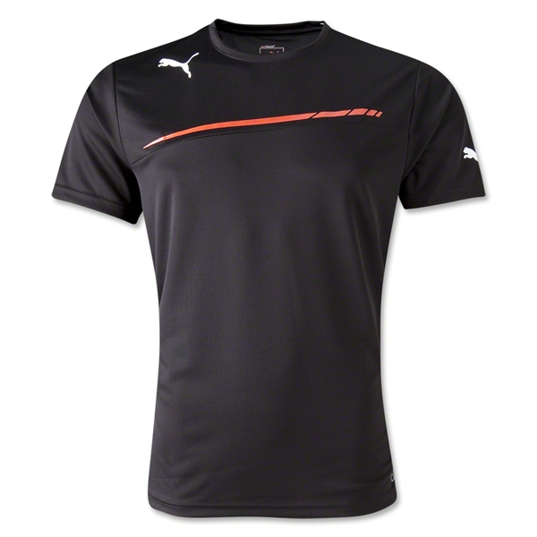 PUMA King Poly T-Shirt (Blk/Red)