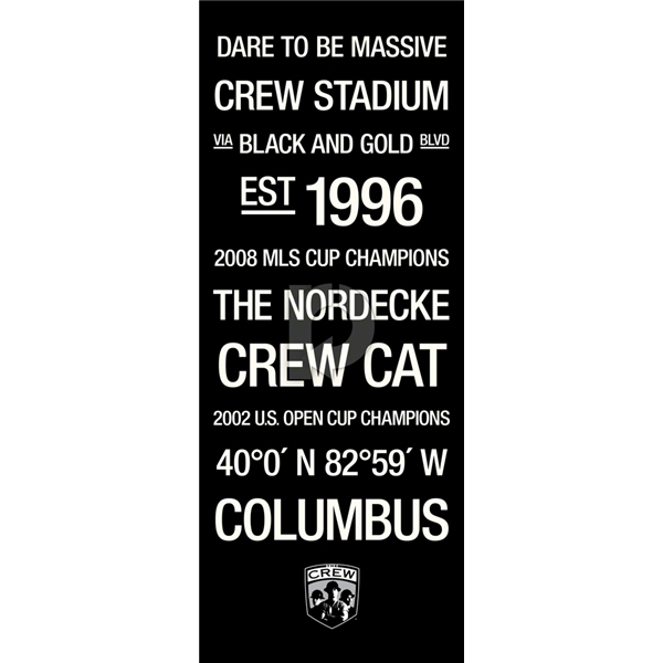 Columbus Crew Subway Art with Logo