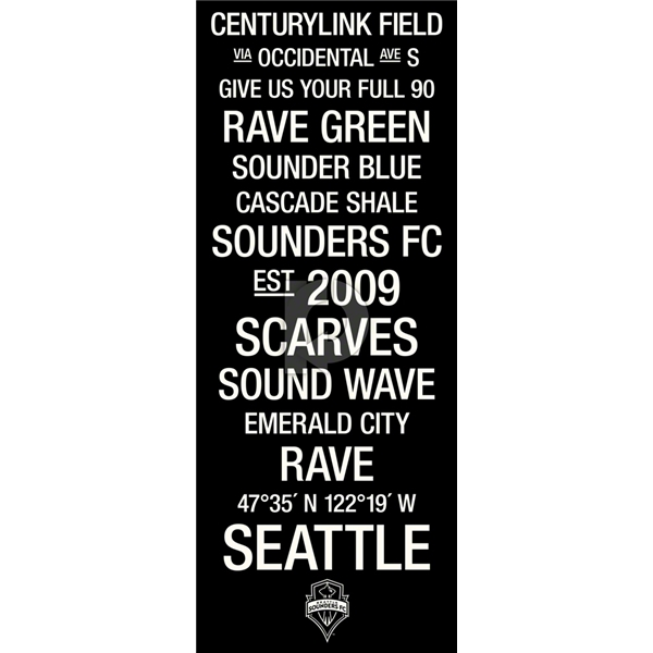 Seattle Sounders Subway Art with Logo