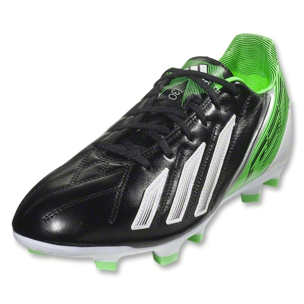 adidas F30 TRX FG Leather (Black/Running White/Green Zest)