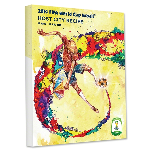 Recife 2014 FIFA World Cup Brazil Host City Poster Stretched Canvas