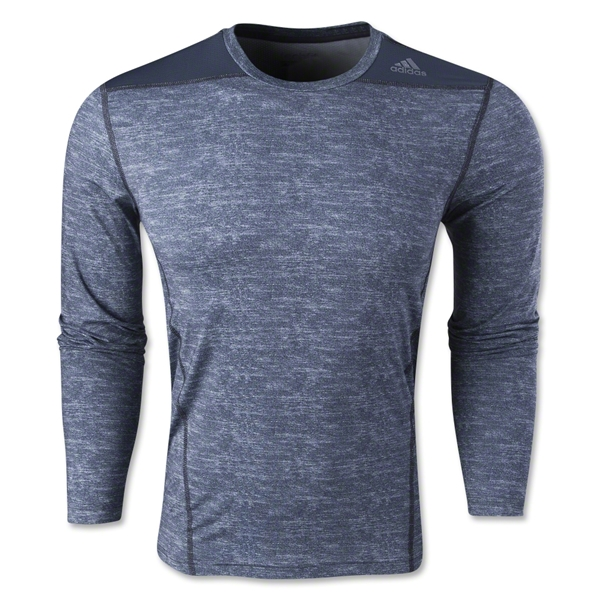adidas TechFit Fitted Long Sleeve T-Shirt (Dk Grey)