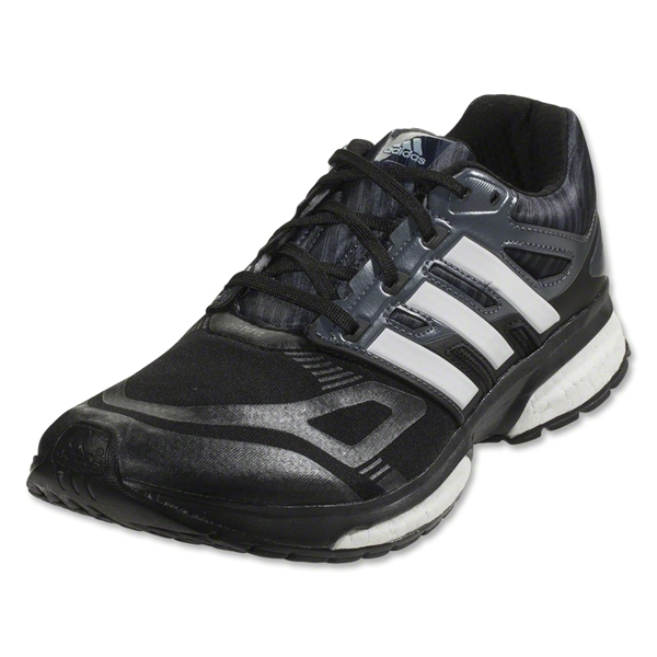 adidas Response 23 TechFit Running Shoe (Black/Silver/Orange)