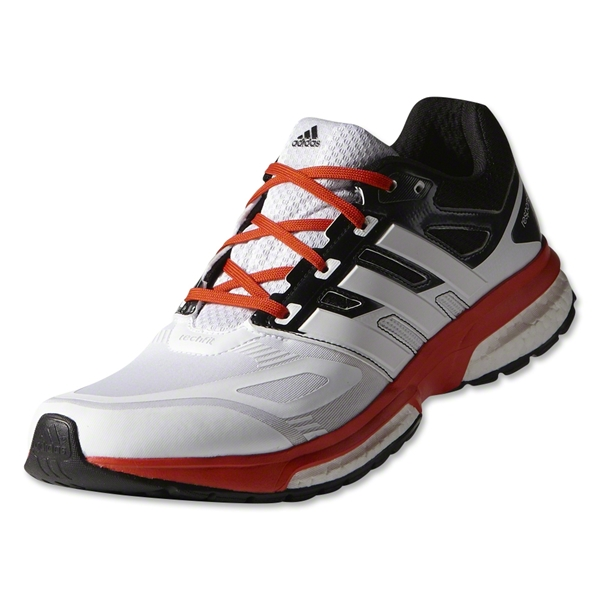 adidas Response 23 TechFit Running Shoe (Core White/Orange)