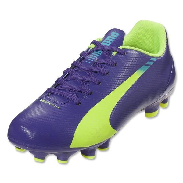 Puma evoSpeed 5.3 FG Junior (Prism Violet/Fluro Yellow/Scuba Blue)