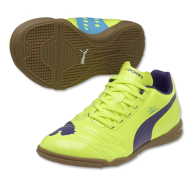 Puma evoPower 4 IT Junior (Fluro Yellow/ Prism Violet/Scuba Blue)