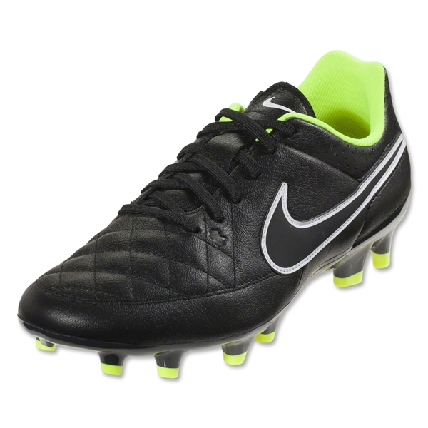 Nike Tiempo Genio Leather FG (Black/Volt)