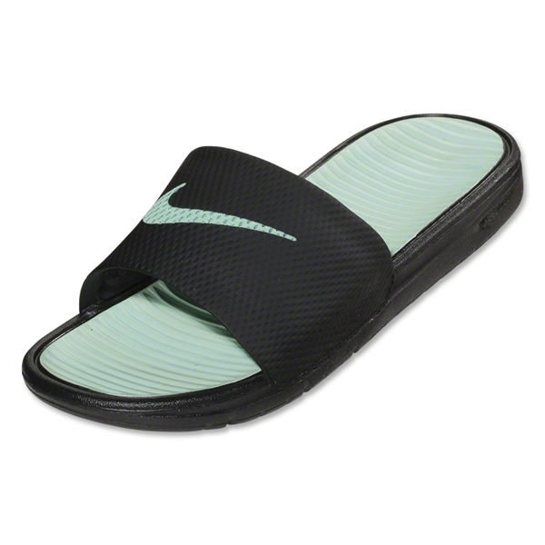 Nike Benassi Solarsoft Slide Sandal (Black/Medium Mint)