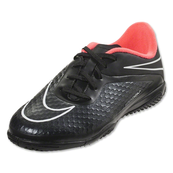Nike Junior Hypervenom Phelon IC (Black/Hyper Punch)