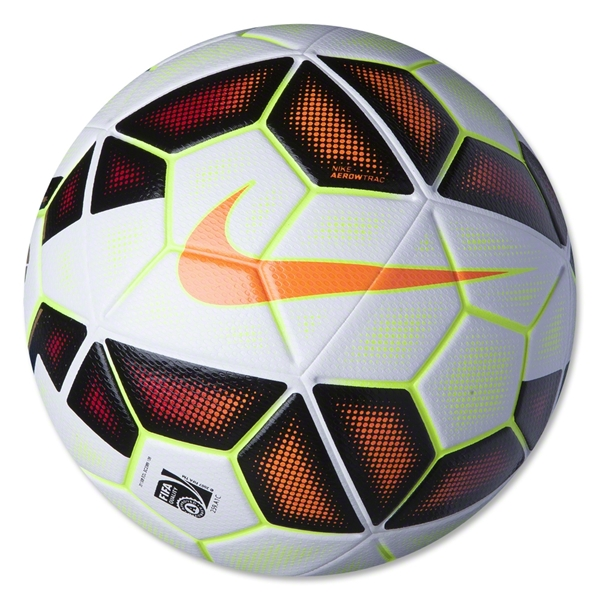Nike Ordem 2 LFP Soccer Ball (White/Black/Total Orange)