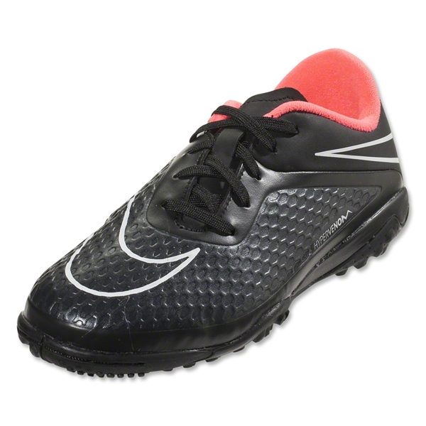Nike Junior Hypervenom Phelon TF (Black/Hyper Punch)