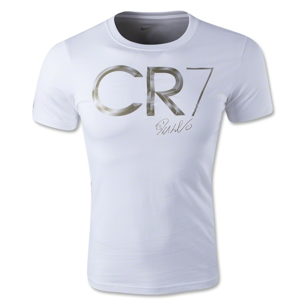 Nike CR7 Hero Logo T-Shirt (White)
