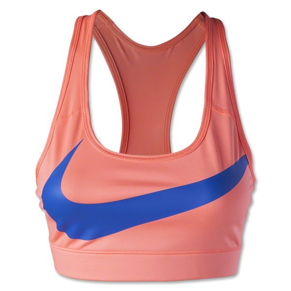 Nike Victory Compression Logo Bra (Orange)