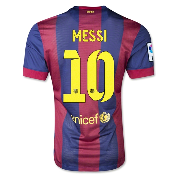 Barcelona 14/15 MESSI Authentic Home Soccer Jersey
