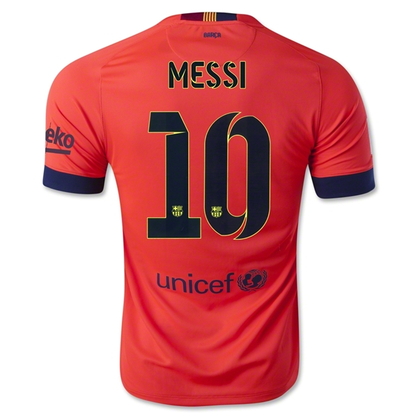 Barcelona 14/15 MESSI Away Soccer Jersey'