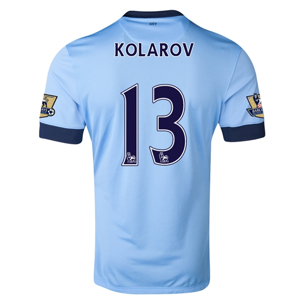 Manchester City 14/15 KOLAROV Authentic Home Soccer Jersey