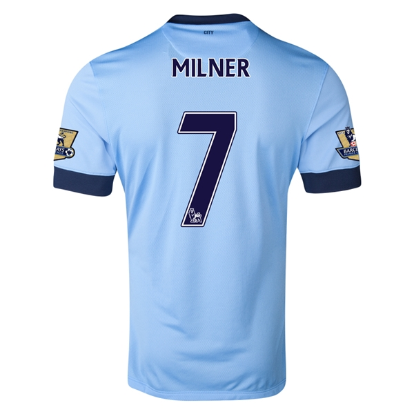 Manchester City 14/15 MILNER Authentic Home Soccer Jersey