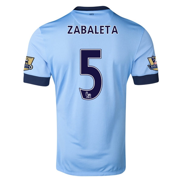 Manchester City 14/15 ZABALETA Authentic Home Soccer Jersey