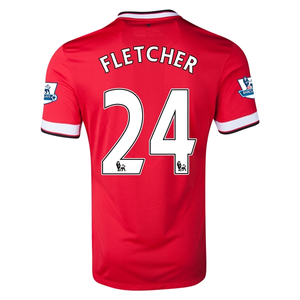 Manchester United 14/15 FLETCHER Home Soccer Jersey