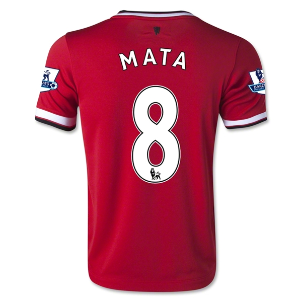 Manchester United 14/15 MATA Youth Home Soccer Jersey