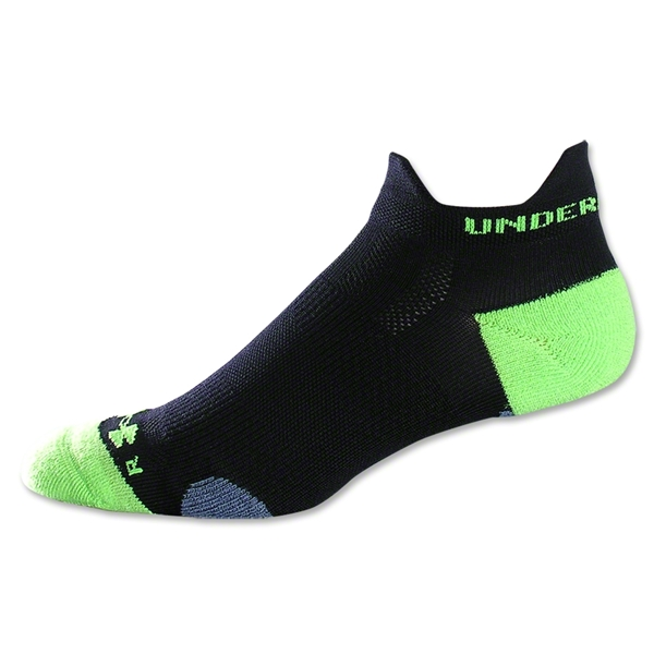 Under Armour Ultralite Double Tab Sock (Black/Lime)