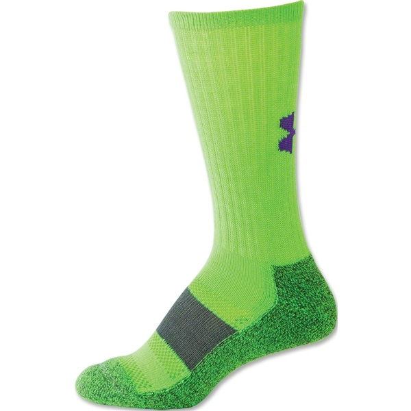 Under Armour Women's Allsport Crew Sock (Neon Green)
