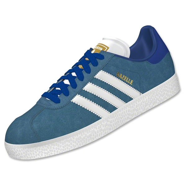 adidas Gazelle (Stonewash Blue/Core White/Gold Metallic)