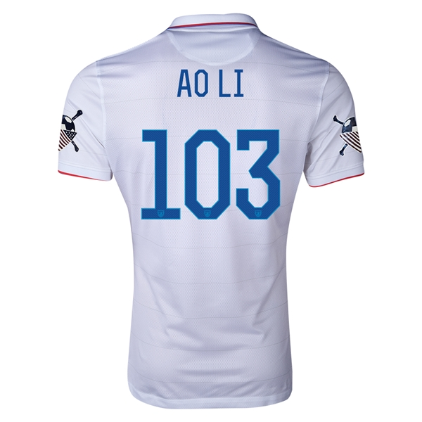 USA 14/15 American Outlaws AO LI Home Soccer Jersey