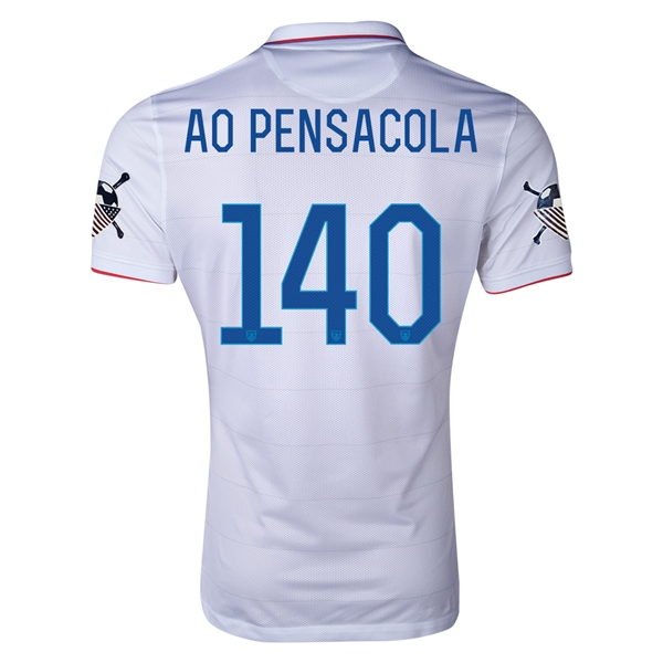 USA 14/15 American Outlaws AO PENSACOLA Home Soccer Jersey