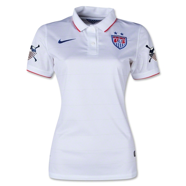 USA 2014 American Outlaws Women's Home Soccer Jersey