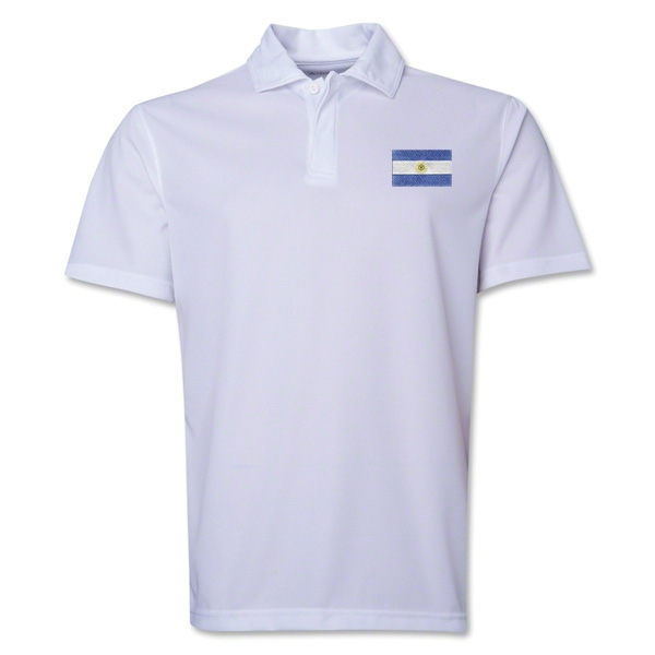Argentina Flag Soccer Polo (White)