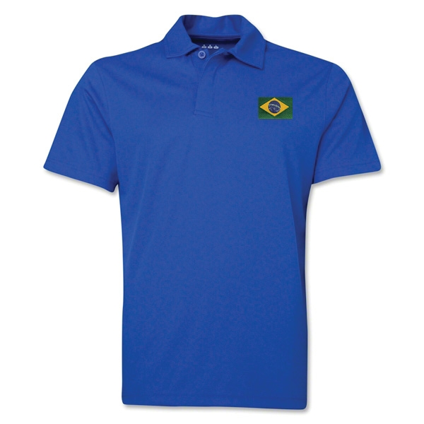 Brazil Flag Soccer Polo (Royal)