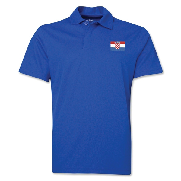 Croatia Flag Soccer Polo (Royal)