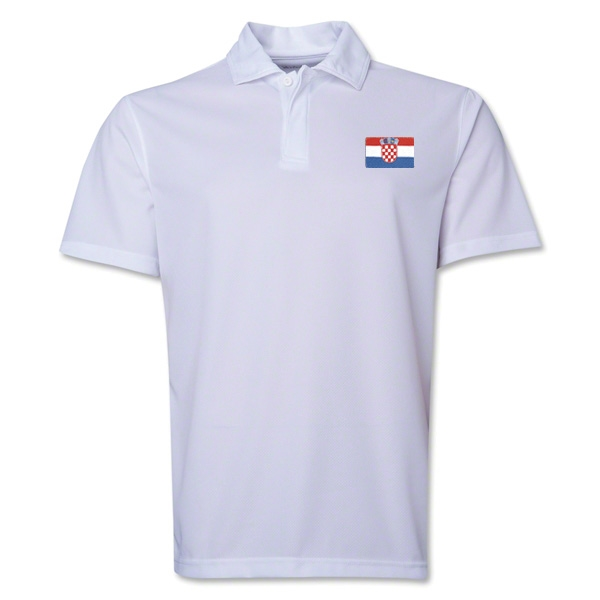Croatia Flag Soccer Polo (White)