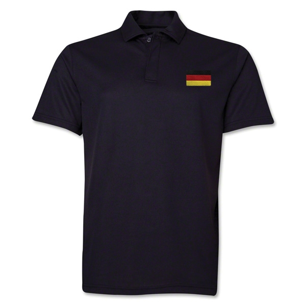 Germany Flag Soccer Polo (Black)