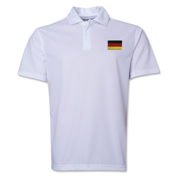 Germany Flag Soccer Polo (White)