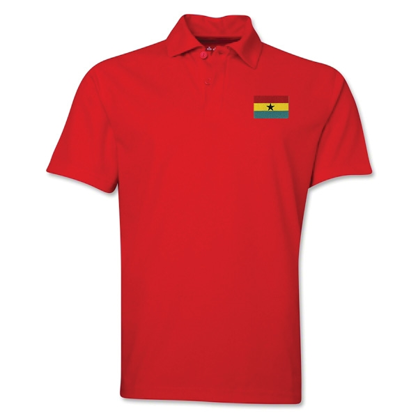 Ghana Flag Soccer Polo (Red)