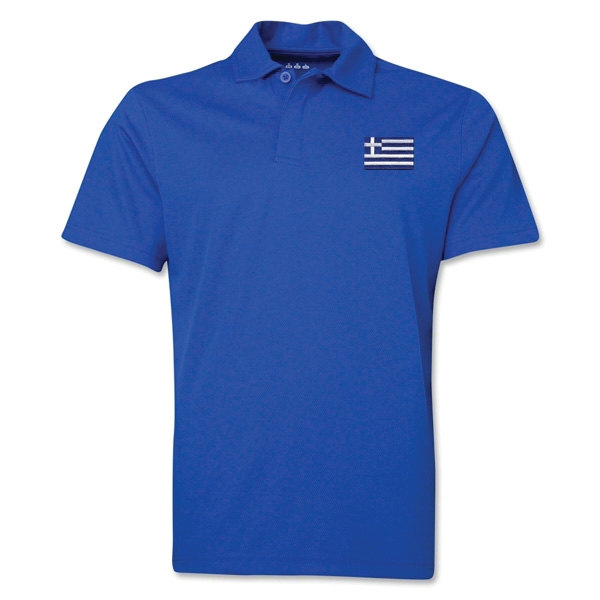 Greece Flag Soccer Polo (Royal)