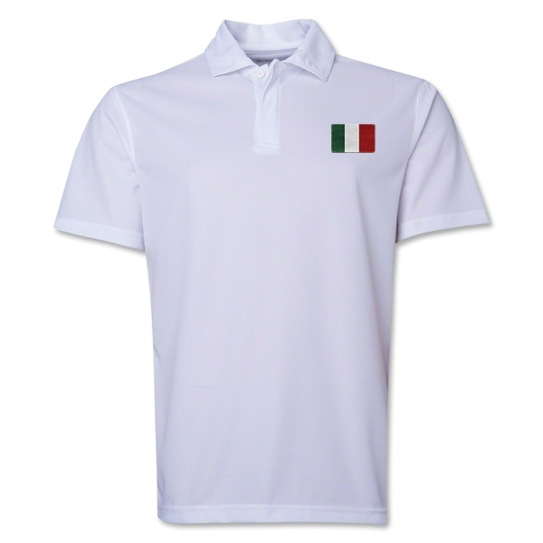 Italy Flag Soccer Polo (White)