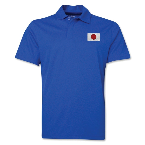 Japan Flag Soccer Polo (Royal)