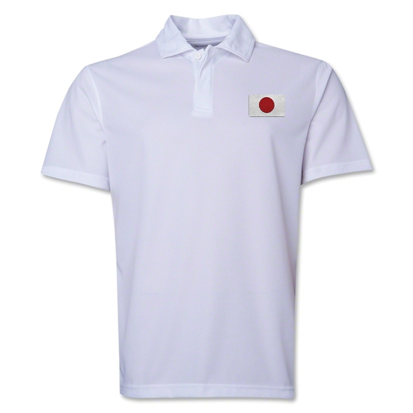 Japan Flag Soccer Polo (White)