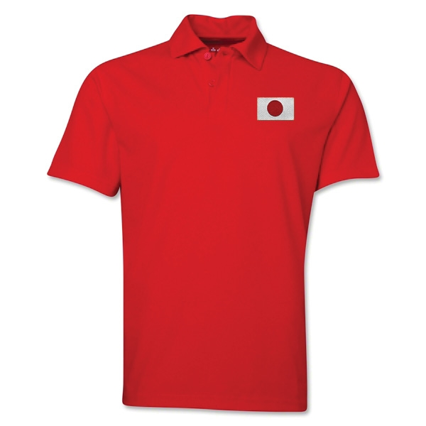 Japan Flag Soccer Polo (Red)