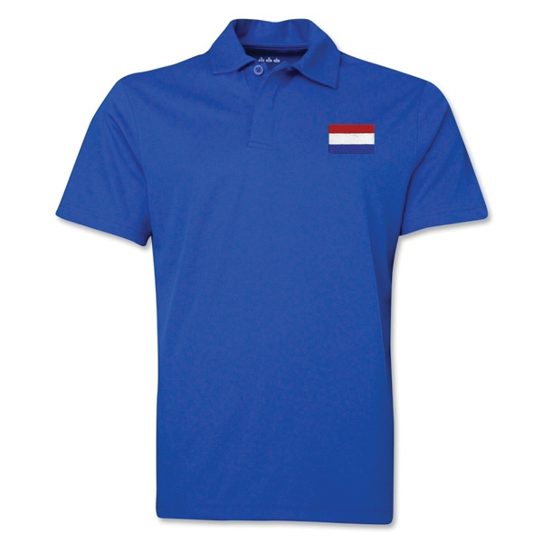 Netherlands Flag Soccer Polo (Royal)