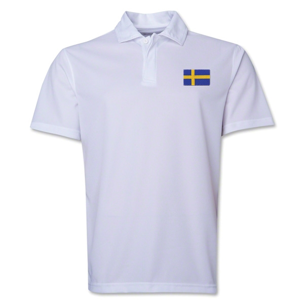 Sweden Flag Soccer Polo (White)